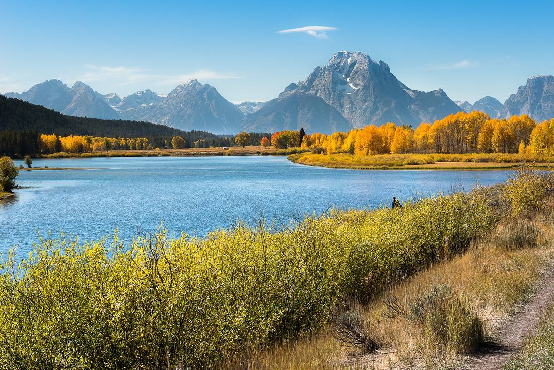 Breathtaking view of Oxbow Bend in Grand Teton National Park